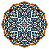 Teste padrão circular árabe Foto de Stock Royalty Free