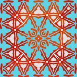 Teste padrão colorido decorativo Ilustração do vetor Fotografia de Stock