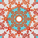 Teste padrão colorido decorativo Ilustração do vetor Fotografia de Stock Royalty Free