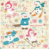 Teste padrão colorido do Natal sem emenda Fotografia de Stock