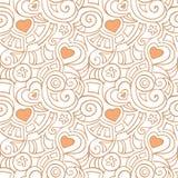 Teste padrão com corações Imagem de Stock