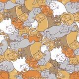 Teste padrão com gatos Imagem de Stock