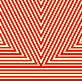 Teste padrão com ornamento geométrico Fundo abstrato branco vermelho listrado Fotografia de Stock Royalty Free