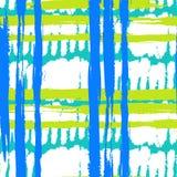 Teste padrão com pinceladas largas e listras Imagem de Stock Royalty Free