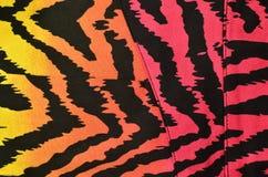 Teste padrão cor-de-rosa, alaranjado, amarelo da zebra Foto de Stock Royalty Free