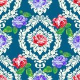 Teste padrão cor-de-rosa do damasco do chique gasto Fotografia de Stock Royalty Free