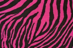 Teste padrão cor-de-rosa e preto do tigre Fotos de Stock Royalty Free
