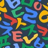 Teste padrão coreano do alfabeto Foto de Stock
