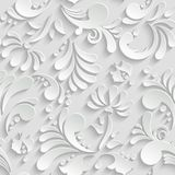 Teste padrão 3d sem emenda floral abstrato Imagens de Stock Royalty Free