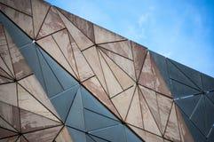 Teste padrão da arquitetura da construção em Melbourne Fotografia de Stock