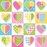 Teste padrão da coleção dos corações Fotografia de Stock Royalty Free
