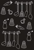 Teste padrão da cozinha Fotografia de Stock Royalty Free