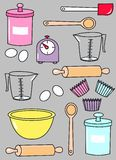 Teste padrão da cozinha Imagens de Stock
