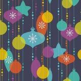 Teste padrão da decoração do Natal Imagens de Stock Royalty Free
