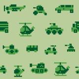 Teste padrão da guerra do pixel Imagem de Stock Royalty Free