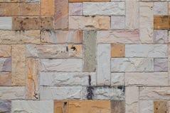 Teste padrão da parede de tijolo de pedra moderna surgida Imagens de Stock Royalty Free