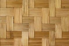 Teste padrão de bambu do weave Fotografia de Stock Royalty Free