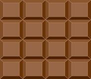 Teste padrão de barra sem emenda do chocolate, vetor Imagens de Stock Royalty Free