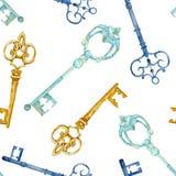 Teste padrão de chaves Fotografia de Stock