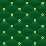 Teste padrão de couro verde do vintage. Fotografia de Stock