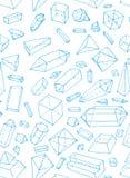 Teste padrão de cristal Imagem de Stock Royalty Free
