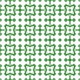 Teste padrão de fôrmas geométricas Fundo do vetor de polígono verdes Imagens de Stock