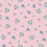 Teste padrão de flor bonito minúsculo sem emenda Foto de Stock Royalty Free