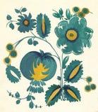 Teste padrão de flor russian do Water-colour Imagens de Stock
