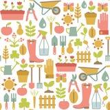 Teste padrão de jardinagem Fotos de Stock Royalty Free