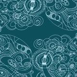 Teste padrão de ondas retro desenhado à mão abstrato, fundo ondulado Foto de Stock Royalty Free