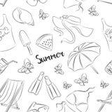 Teste padrão de símbolos do verão Fotos de Stock Royalty Free