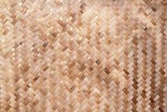Teste padrão de weave de cesta de bambu Fotos de Stock Royalty Free