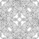 Teste padrão decorativo sem emenda do gráfico do zentangle Foto de Stock