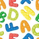 Teste padrão do alfabeto Fotografia de Stock Royalty Free