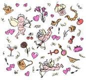 Teste padrão do amor. Imagem de Stock Royalty Free