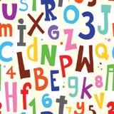 Teste padrão do branco do alfabeto Foto de Stock Royalty Free
