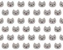 Teste padrão do gato Fotos de Stock Royalty Free