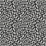 Teste padrão do labirinto da geometria do sumário do gráfico de vetor fundo geométrico sem emenda preto e branco Foto de Stock