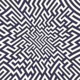 Teste padrão do labirinto da geometria do sumário do gráfico de vetor fundo geométrico sem emenda roxo do labirinto Fotografia de Stock