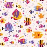 Teste padrão do mar dos peixes Foto de Stock