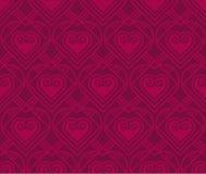 Teste padrão do vetor do ouro com coração no estilo do art deco Foto de Stock