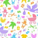 Teste padrão dos artigos do bebê Imagens de Stock Royalty Free
