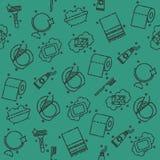 Teste padrão dos ícones da higiene pessoal Imagens de Stock Royalty Free