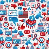 Teste padrão dos ícones das eleições dos EUA Fotografia de Stock Royalty Free
