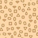 Teste padrão dos diamantes Foto de Stock Royalty Free