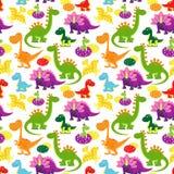 Teste padrão dos dinossauros do bebê Foto de Stock Royalty Free