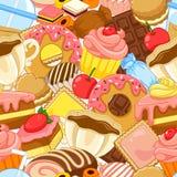 Teste padrão dos doces Imagens de Stock Royalty Free