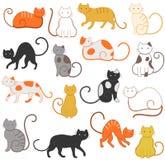 Teste padrão dos gatos Fotos de Stock