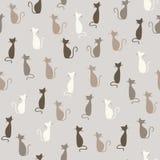 Teste padrão dos gatos Fotografia de Stock