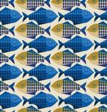 Teste padrão dos peixes Foto de Stock Royalty Free